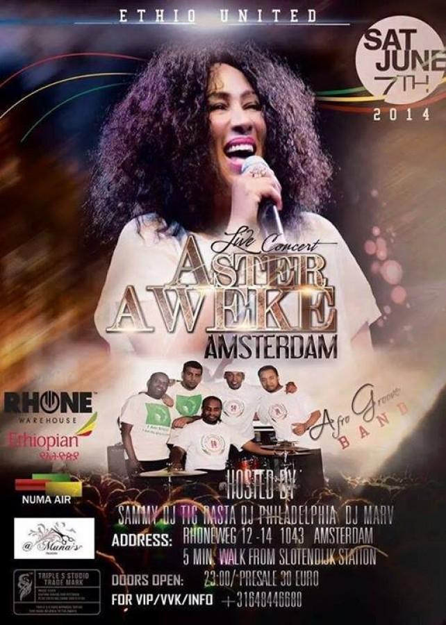 Ethio Beauty - Aster Aweke EWEDIHALEHU TOUR - Amsterdam - 07 06 14