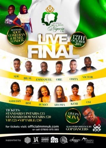 Mr And Miss Nigeria UK Live Final 12.10.14