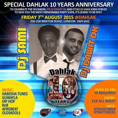 Special Dahlak 10 Years Anniversary - 07.08.15