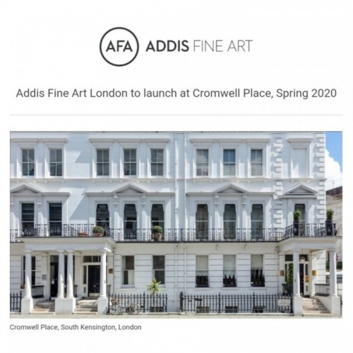 Addis Fine Art Launch A Permanent Space At Cromwell Place Spring 2020