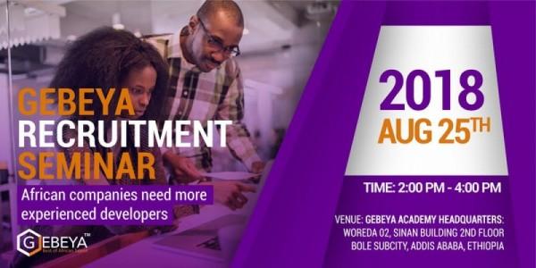 Gebeya Recruitment Event