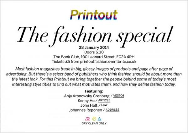 Printout Fashion Special – 28.01.14