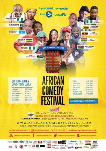 African Food and  Comedy Festival UK - 20th August 2016 - 24th September 2016