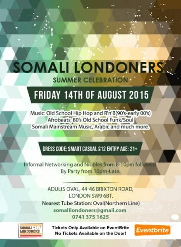 Somali Londoners Summer Celebration - 14.08.15