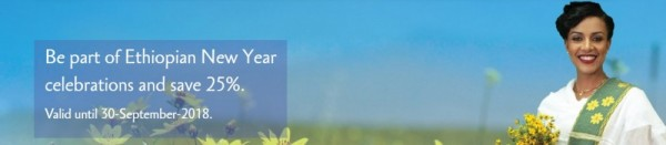 Ethiopian Airlines Ethiopian New Year Sales Promotion