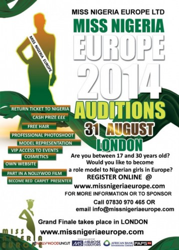 Miss Nigeria Europe London Auditions - 31.08.14