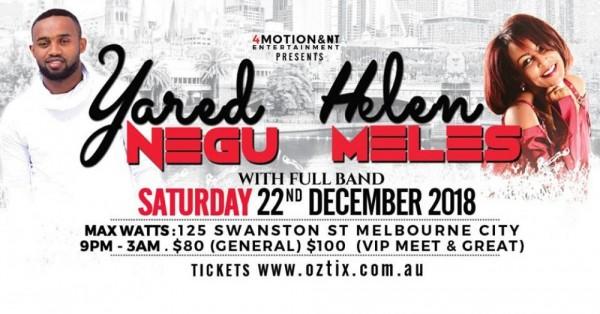 Yared Negu & Helen Meles Live in Melbourne