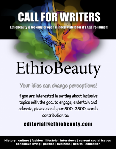 Calling For open minded Writers: Ethio Beauty Magazine is Looking For Writers