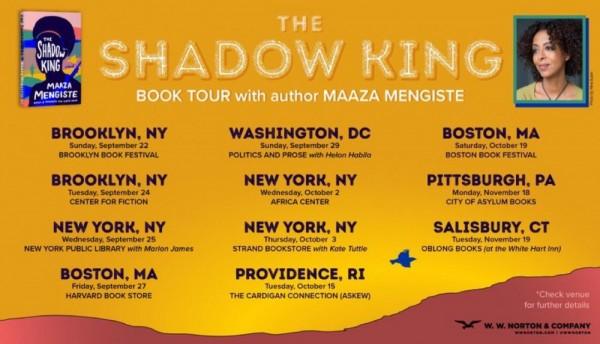 Maaza Mengiste The Shadow King USA Book Tour