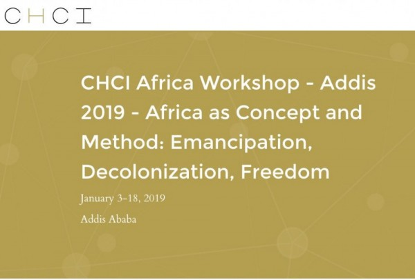 Addis 2019 African Humanities Workshop Program