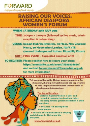 Raising Our Voices: African Women's Forum - 25.07.15