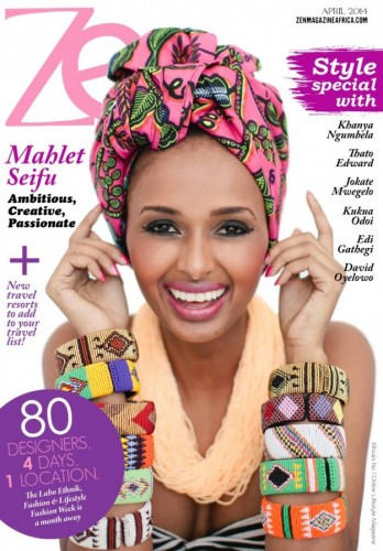 Ethiopian Model Mahlet Seifu On The Cover of Zen Magazine April 2014